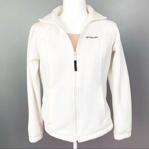 Columbia White Fleece Jacket